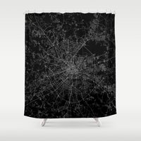 moscow Shower Curtains featuring Moscow by Line Line Lines