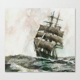 High Seas tea Clipper Canvas Print