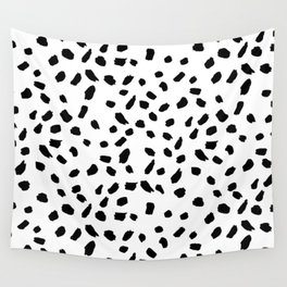 Brush Stroke Dots Wall Tapestry