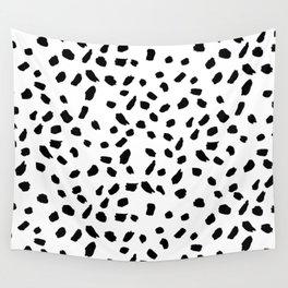 Brush Stroke Dots Wall Tapestry
