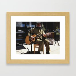 Eddie Cusic, Juke Joint Festival, Clarksdale, Mississippi Framed Art Print