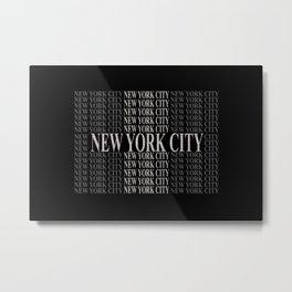 New York City (type in type on black) Metal Print