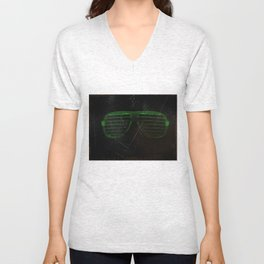 Electro Glasses Unisex V-Neck