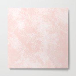 Pink Coral Marble Metal Print
