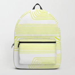Minimalist, line art pattern, scandivian, modern minimal, sunny yellow Backpack