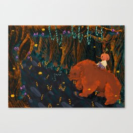 pumpkin boy and his werbear Canvas Print