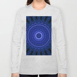 Dark blue mandala Long Sleeve T-shirt
