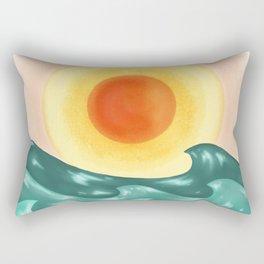 Sunset Wave Rectangular Pillow