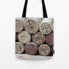 Vintage Wine Corks Tote Bag