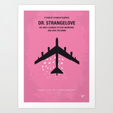 No025 My Dr Strangelove minimal movie poster Art Print