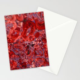 Marble Ruby Blood Red Agate Stationery Cards