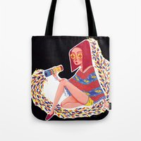 kaleidoscope Tote Bags featuring Kaleidoscope by Hannah Lee Stockdale