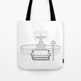 Friends - the one with the sofa Tote Bag