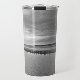 Weston-super-Mare black and white Travel Mug