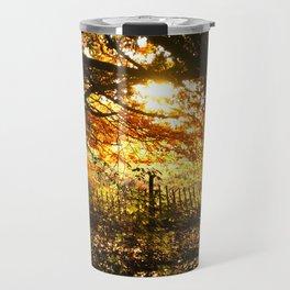 Autumn Leaves Sunset Photo Travel Mug