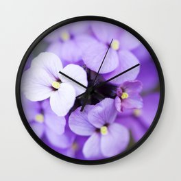 Dame's Rocket Cluster Wall Clock