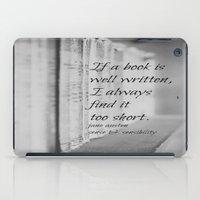 jane austen iPad Cases featuring Jane Austen Book by KimberosePhotography