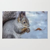 squirrel Area & Throw Rugs featuring Squirrel by Svetlana Korneliuk