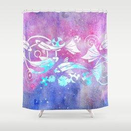 Galactic Goldfish Shower Curtain