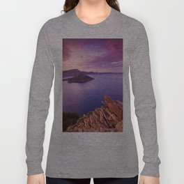 Crater Lake Sunset Long Sleeve T-shirt