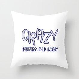 Funny Animal Guinea Pig Tshirt Design Crazy guinea pig lady Throw Pillow