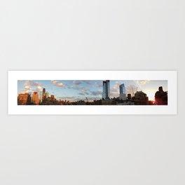 Manhattan Skyline and Sunset Art Print