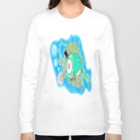 steam punk Long Sleeve T-shirts featuring Whimsical Steam Punk Fish by J&C Creations