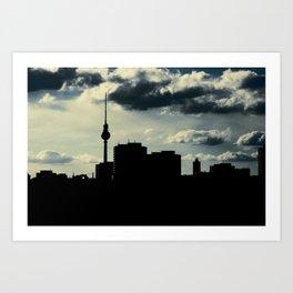 Skyline, Berlin Art Print