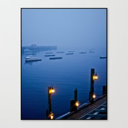 Camden Harbor, Maine - Color Canvas Print