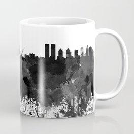 Istanbul skyline in black watercolor Coffee Mug