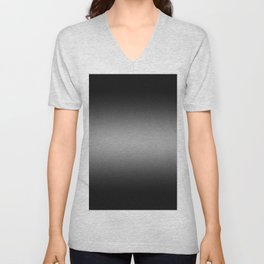 Black to White Horizontal Bilinear Gradient Unisex V-Neck
