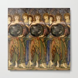 "Edward Burne-Jones ""The Days of Creation - Day 3"" Metal Print"
