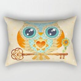 Owl's Summer Love Letters Rectangular Pillow