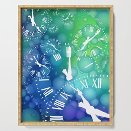 Time bubble Serving Tray