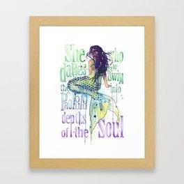 Mermaid : Profound Depths Framed Art Print