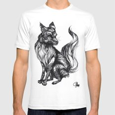 Foxy Two White MEDIUM Mens Fitted Tee