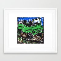 jeep Framed Art Prints featuring jeep by Rimadi