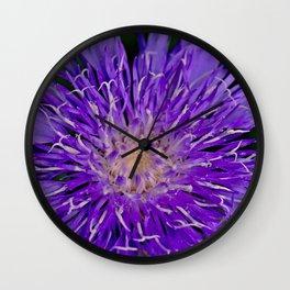 Knapweed Wildflower Wall Clock