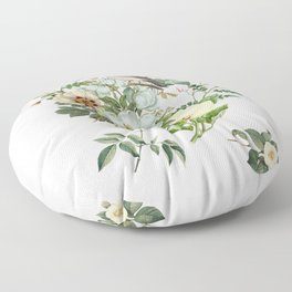 WHITE BIRD Floor Pillow