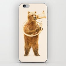 The Bear and his Helicon iPhone & iPod Skin