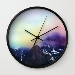 Mountain of Color Fog Wall Clock