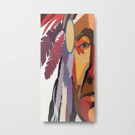 American Native Pattern No. 395 Metal Print