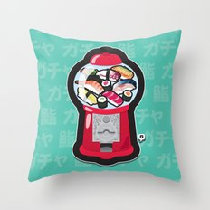 Gumball Sushi   ガチャ ガチャ 鮨 Throw Pillow