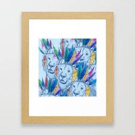 Indian Lion Multiple  Framed Art Print