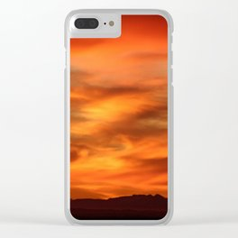 Sunrise - Munich look south Alpes and Lake Tegernsee Valley Clear iPhone Case