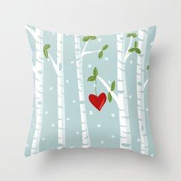 bue birch Throw Pillow