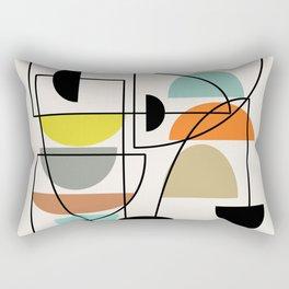 """Mid Century Modern """"Bowls"""" Rectangular Pillow"""