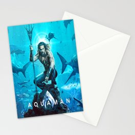 Aquaman DC superheroes Movie Poster Stationery Cards