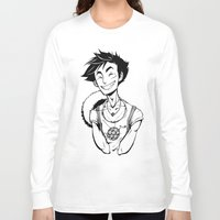 luffy Long Sleeve T-shirts featuring Luffy by Ida Dobnik