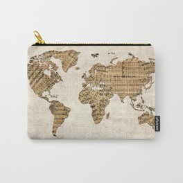 world map music vintage Carry-All Pouch